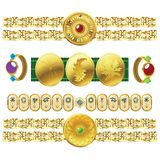 Golden jewel Royalty Free Stock Photography