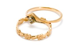 Golden jewel stock image