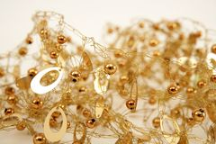 Golden jewel messy wired texture balls and oval Royalty Free Stock Images