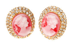Golden Jewellery Earring Stock Images