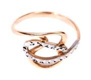 Golden jewellery ring Stock Photos