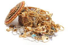 Golden Jewelry Royalty Free Stock Photography