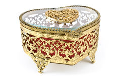 Golden jewelry box royalty free stock photos