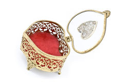 Golden jewelry box Royalty Free Stock Images