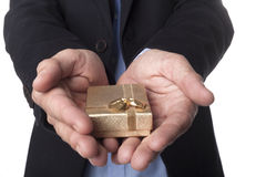 Golden Jewelry Box Stock Photography