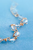 Jewelry bracelet with blue topaz Stock Photos