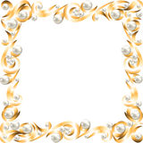 Golden jewelry frame Stock Photos