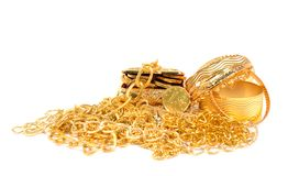 Golden jewelry Royalty Free Stock Photo