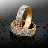 Golden jewelry rings Royalty Free Stock Photos