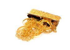 Golden jewels Royalty Free Stock Photo