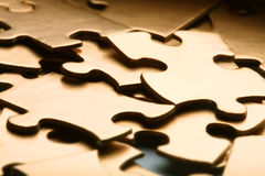 Golden jigsaw Royalty Free Stock Images
