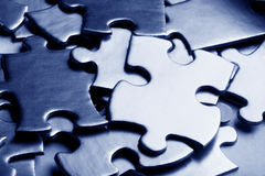Golden jigsaw Royalty Free Stock Image