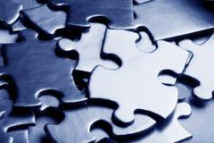 Golden jigsaw Royalty Free Stock Image