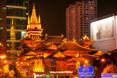 Golden Jing An Temple Shanghai China Royalty Free Stock Images