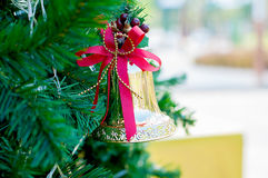 Golden jingle bell Royalty Free Stock Images