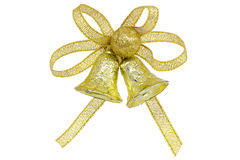 Golden jingle bell Royalty Free Stock Photo