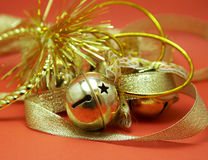 Golden jingle bells Stock Image