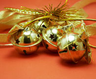 Golden jingle bells Royalty Free Stock Photos