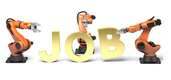 Golden job Stock Image