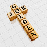 Golden job crossword Royalty Free Stock Images