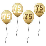 golden jubilee balloons Stock Photography