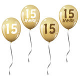 Golden jubilee balloons Royalty Free Stock Photography