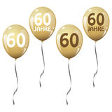 Golden jubilee balloons Royalty Free Stock Photos