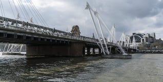 Golden Jubilee Bridge London England Stock Photo