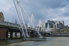 Golden Jubilee Bridge London England Stock Photos