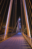 Golden Jubilee Bridge London by night colorful illuminated Stock Image