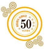 Golden jubilee. Celebrations on white background Royalty Free Stock Photography