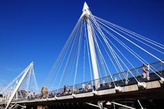 Golden Jubilee Footbridge Royalty Free Stock Photos