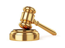 Golden judge gavel Stock Image