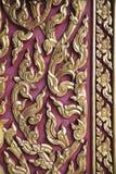 Golden kanok on door Royalty Free Stock Photos