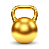 Golden kettlebell Stock Images