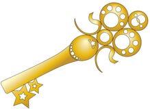 Golden key royalty free illustration