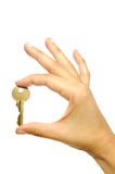 Golden key Royalty Free Stock Images