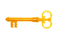 Golden key Stock Photo