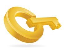 Golden Key Stock Photography