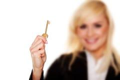 A golden key Stock Image