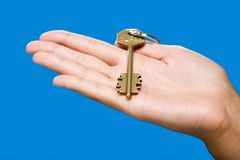 Golden key Royalty Free Stock Photos