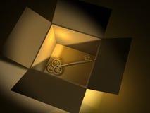Golden key stock illustration
