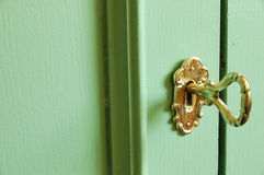 Golden key Royalty Free Stock Photography