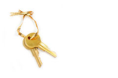 Golden key. Isolated golden key Stock Image