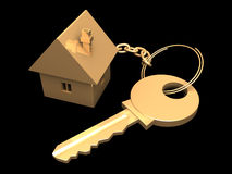 Golden key. Royalty Free Stock Image