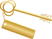Golden key concept privacy Royalty Free Stock Photography