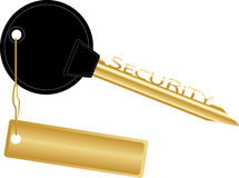 Golden key concept security Royalty Free Stock Image