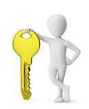 Golden Key! Stock Photo