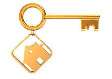 Golden Key House Royalty Free Stock Images