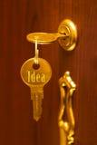 Golden key Idea Royalty Free Stock Photography